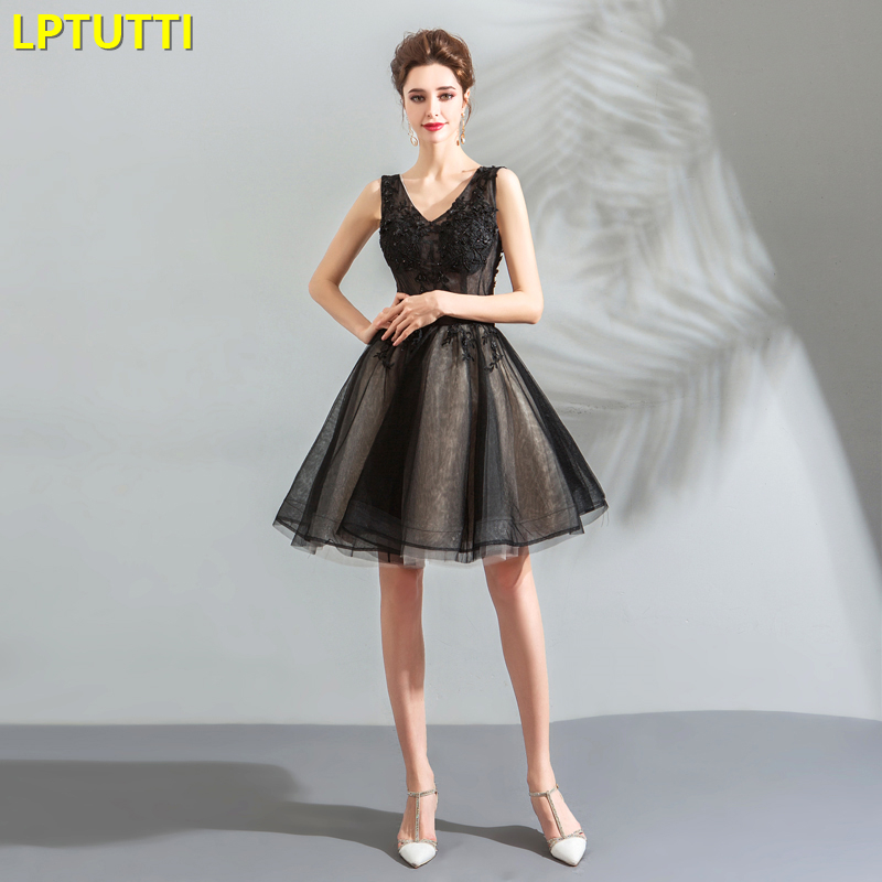 LPTUTTI Lace Crystal New Sexy Woman Social Festive Elegant Formal Prom Party Gowns Fancy Short Luxury Cocktail Dresses