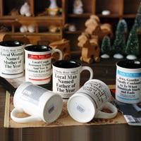 Keramische Mok Creatieve Presenteert Krant Gedrukt Porselein Kopjes En Mokken Koffie Melk Juicy Theekop Drinkware Verjaardagscadeautjes