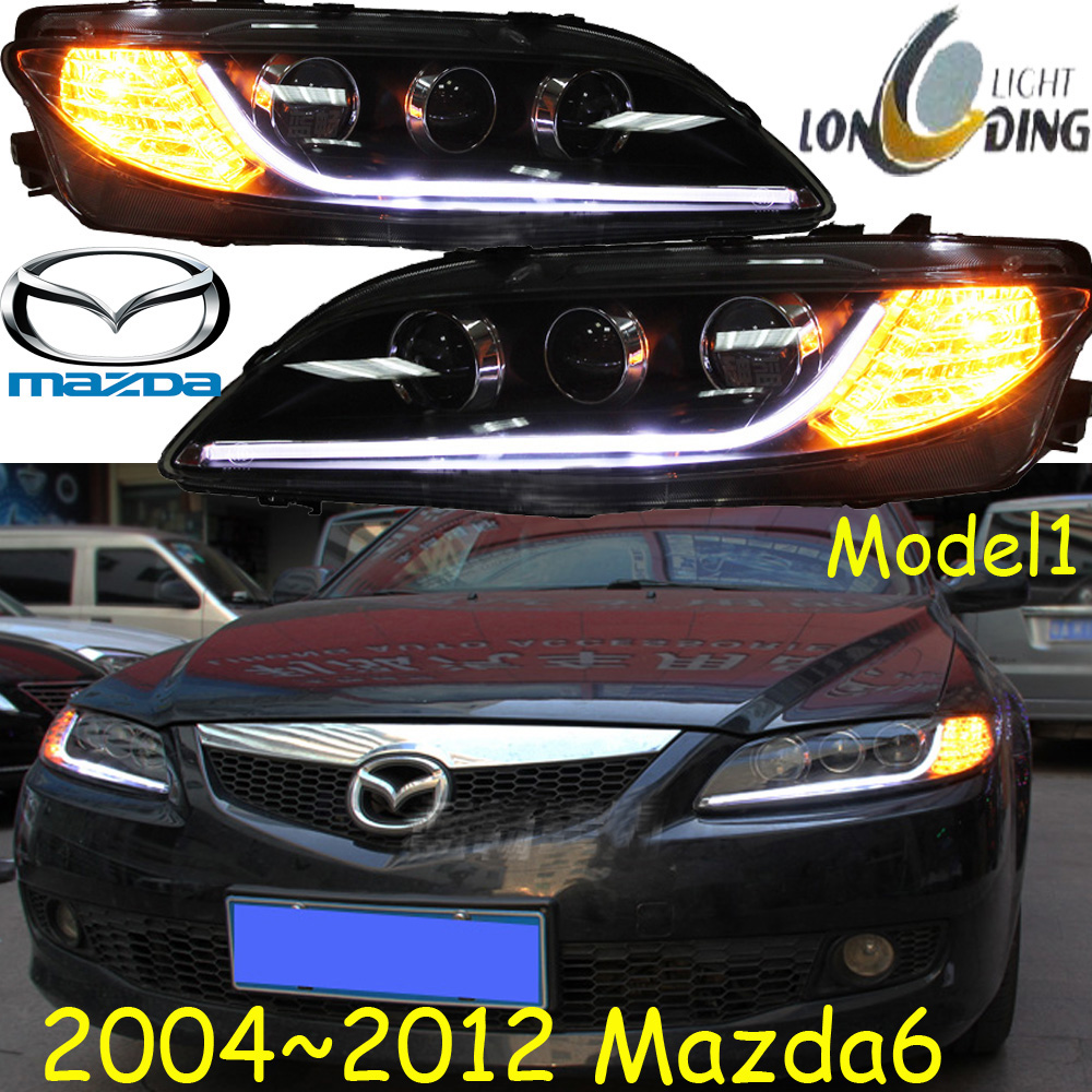 купить Mazd6 headlight,2004~2012,(LHD,RHD need add 200USD),Free ship! MAZD6 fog light,axela,2ps/set+2pcs Aozoom Ballast, CX-5,Atenza недорого