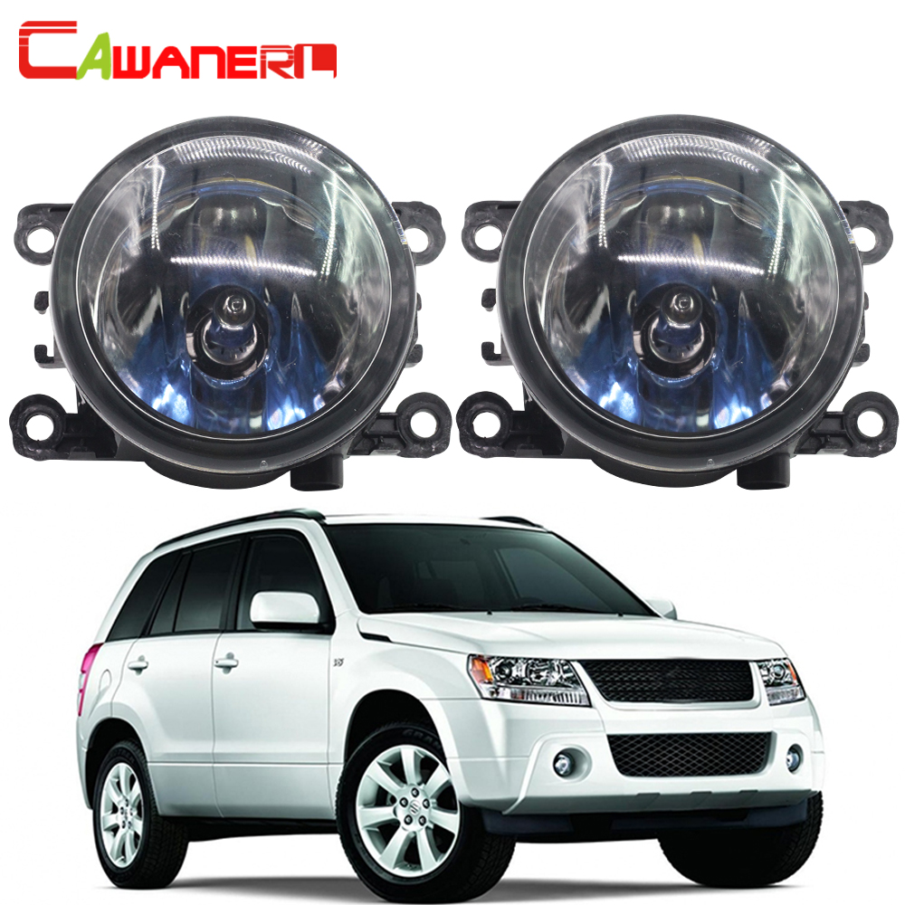 Cawanerl 100W Car Halogen Fog Light DRL Daytime Running Lamp For Suzuki Grand Vitara 2 / II Closed Off-Road Vehicle JT 2005-2015 brand new universal 40 w 6 inch 12 v led car work light daytime running lights combo light off road 4 x 4 truck light