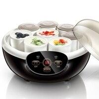 DMWD Mini Smart Automatic Electric Yogurt Machine Natto Rice Wine Maker With 8 Ceramic Cups Kithchen Appliance 220 240V