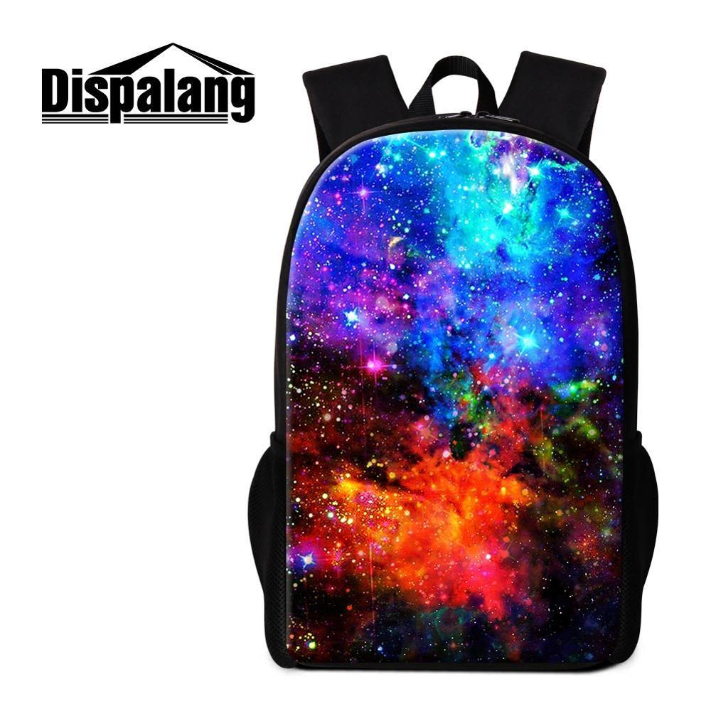 Mens Boy Galaxy School Backpack Bookbag Travel Satchel Rucksack Lunch Pencil Bag