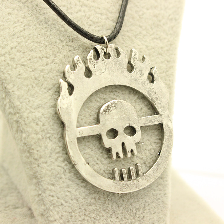 New Mad Max Fury Road War Immortan Joe Burning Skull Faction Hollow Logo Pendant Necklace Men Jewelry