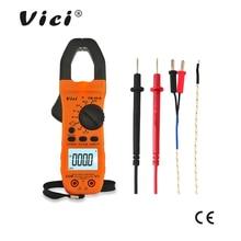Портативный цифровой мультиметр ViCi с зажимом, переменный/постоянный ток, напряжение Ом, NCV, измеритель температуры, сопротивление, амперметр, CM 2016