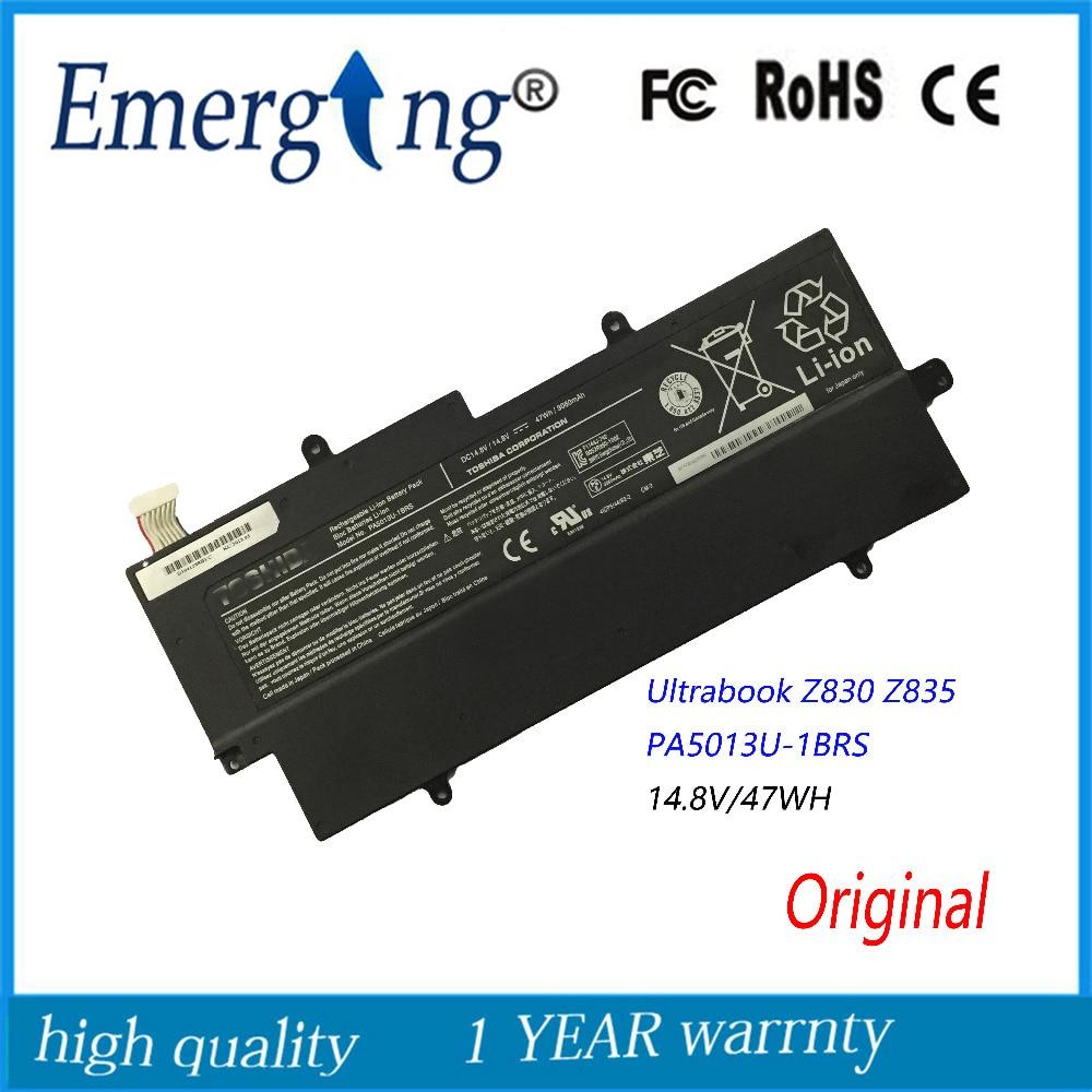 14.8 v 47Wh Nouvelle Batterie D'ordinateur Portable D'origine pour Toshiba Z830 Z835 Z930 Z935 PA5013U-1BRS