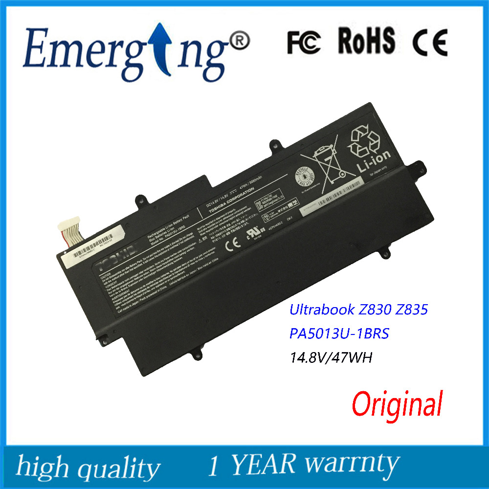 14.8v 47Wh New Original Laptop Battery for Toshiba Z830 Z835 Z930 Z935 PA5013U-1BRS 11 3v 47wh new original laptop battery for lenovo 45n1754 45n1755 45n1756 45n1757 e450 e455 e450c series