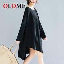 Women skirt Female Skirts Girls Clothing Spring 2019 new Korean large size irregular loose slim fat MM solid color dress 257