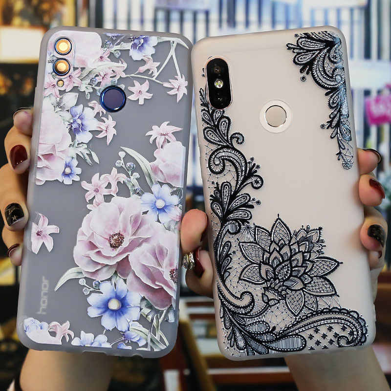8A Honor 7C Case Coque Huawei Honor 10 Lite Case 8X Honor 8C 6X 6C 8A Case Soft Relief 3D Honor 7A Pro Case Honor 8 9 lite Cover