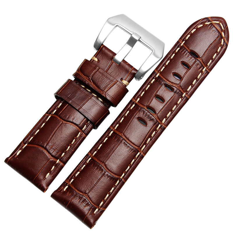 24mm 26mm vintage veau bande de montre en cuir la main. Black Bedroom Furniture Sets. Home Design Ideas