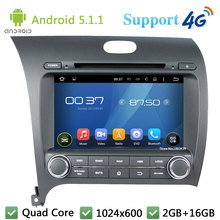 Quad Core 8″ 1024*600 Android 5.1.1 Car DVD Player Radio FM DAB+ 3G/4G WIFI GPS For Kia Cerato K3 Forte 2013 Left Hand Driving