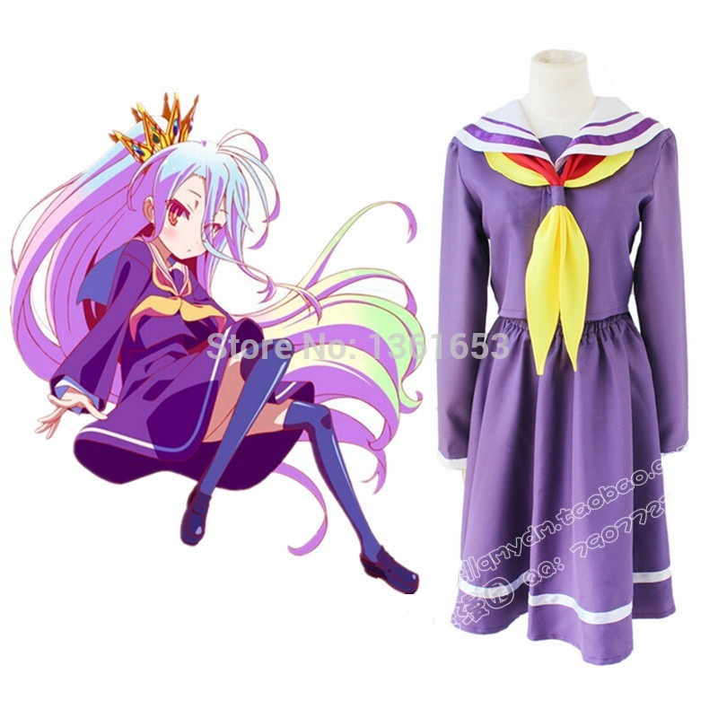 Hot sale Japanese Anime NO GAME NO LIFE cosplay costume dress hallowean cosplay costume for women christmas