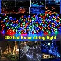 1Set 200 LEDs 22M String Fairy Lamp Solar Power White Colors Lighting For Garden Christmas Party