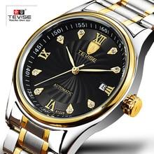 TEVISE العلامة التجارية الرجال ساعات آلية الفاخرة الأزياء الأعمال ووتش التلقائي ساعة اليد Relogio Masculino Montre أوم 2019 جديد