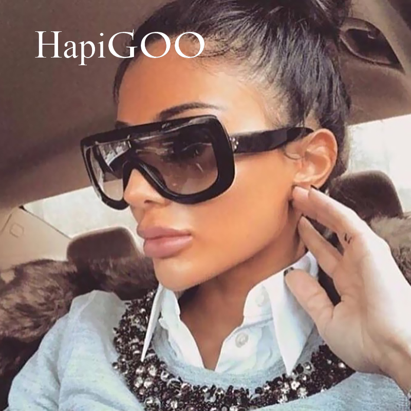 Kim Kardashian Big Sunglasses  aliexpress com hapigoo oversized goggle shield grant