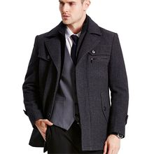 Neue mens winter wollmantel Männer Slim Fit Fashion Jacken Herren lässige Warme Oberbekleidung Jacke Mantel Pea Coat Plus Größe XXXL 4XL(China)