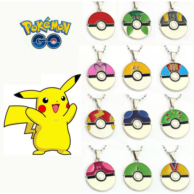 ORP Anime game theme products Pokemon Go nceklace hot selling Wizard ball pendant necklace set fine accessories wholesale