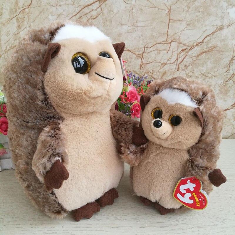 742b7c64061 Aliexpress.com   Buy 2 pcs  lot 25cm And 15cm Ida Hedgehog Plush Toy Ty  Beanie Boos Collection Big Eyed Stuffed Animal Doll Kids Toy Birthday Gift  from ...