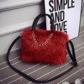 2016 new female package fur package Korean fashion wild lady handbag shoulder Messenger bag