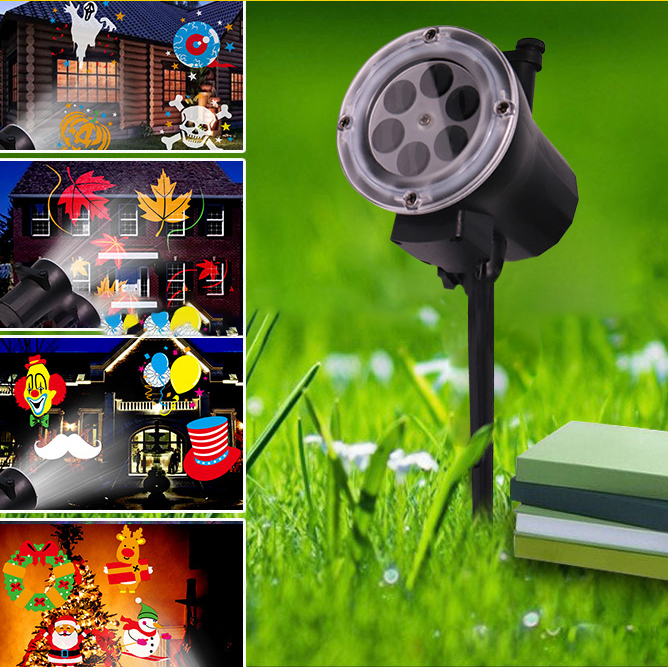 christmas light outdoor disco light lawn lamp waterproof led projector laser fairy light christmas decorations for home led ligh in holiday lighting from - Thomas The Train Outdoor Christmas Decoration