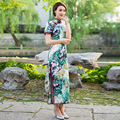 10pcs/lot DHL EMS shipping wholesale short sleeve long dress Qipao Dress vintage chinese style cheongsam dress Chinese dress