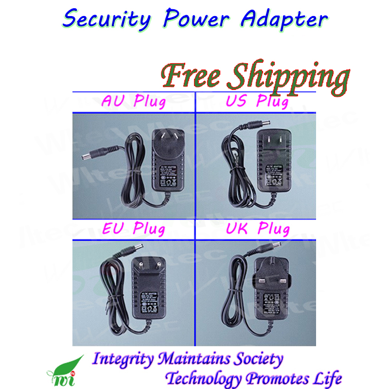Indoor Security professional Converter EU/UK/US/AU Adapter for CCTV Camera Power Supply 12V 1A DC/Out, 100~240V AC/In стоимость