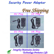 Indoor Security professional Converter EU/UK/US/AU Adapter for CCTV Camera Power Supply 12V 1A DC/Out, 100~240V AC/In