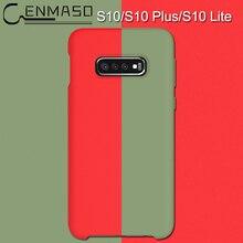 For Samsung Galaxy S10 Lite back case liquid Silicon Phone cases Plus matte Protective funda capa