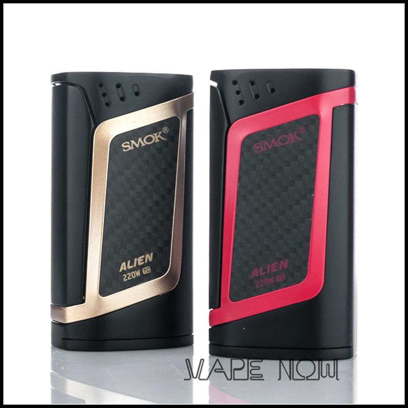 Prix pour D'origine Smok Alien 220 W Boîte Mod avec ÉCRAN OLED Température Contrôle Mod Fit TFV8 Bébé Réservoir elektronik sigara mod