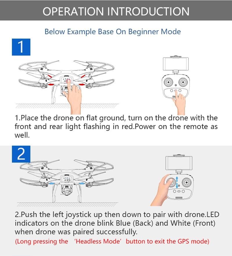 [EU USA JP Stock] Holy Stone HS100 GPS Selfie FPV Drone 500m Flight Range 2500mAh 1080P 7P Camera RC Quadcopter No Tax to EU 20