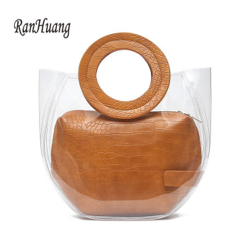 RanHuang Women Composite Bags Transparent Handbags 2019 Fashion Women's Beach Bags Summer Shoulder Bags Casual Handbags A1469