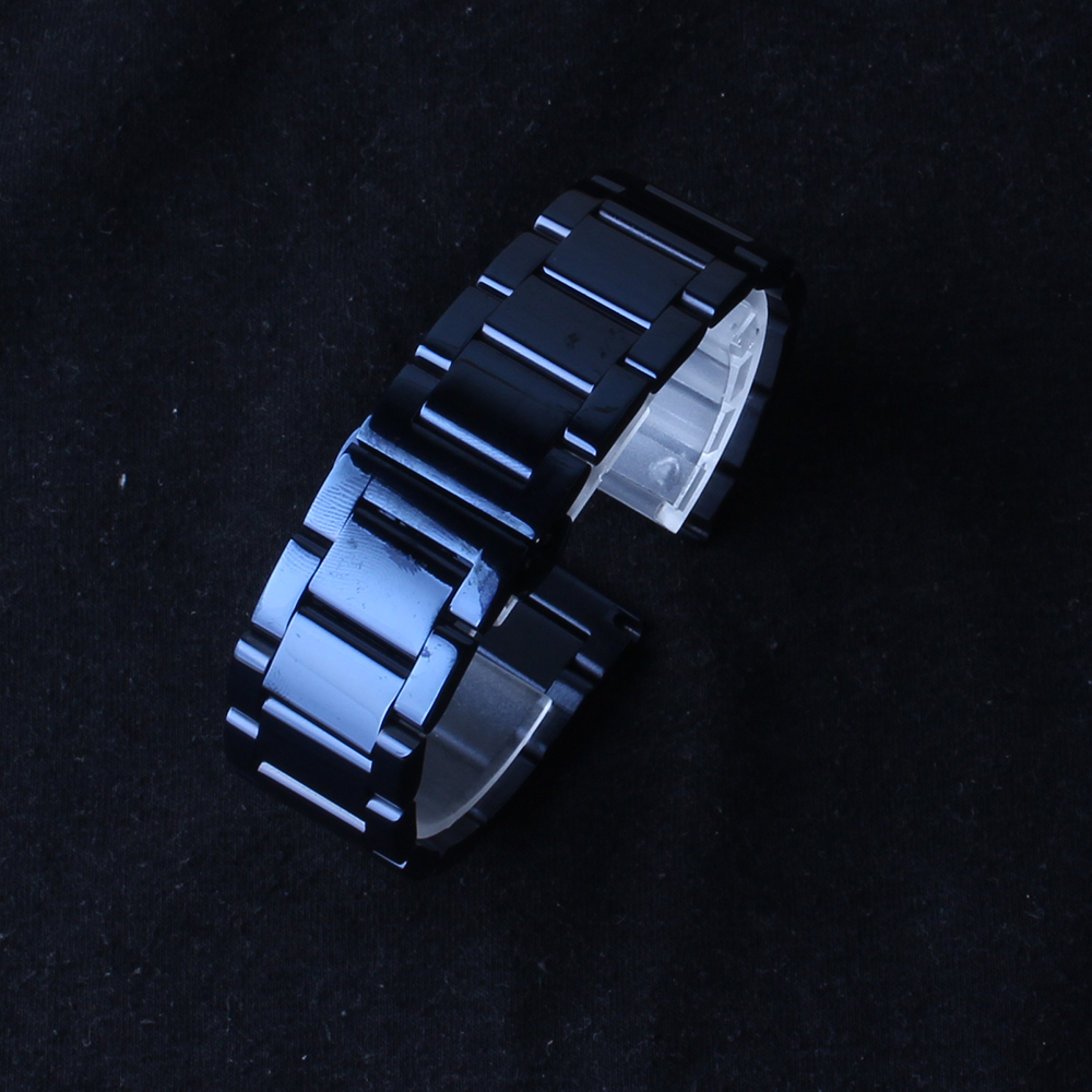 Stainless steel Watchbands dark BLUE Polished Watches accessories strap bracelet 20mm 22mm new arrival 2017 fit gear s4 replace dull polished mixed beaded bracelet