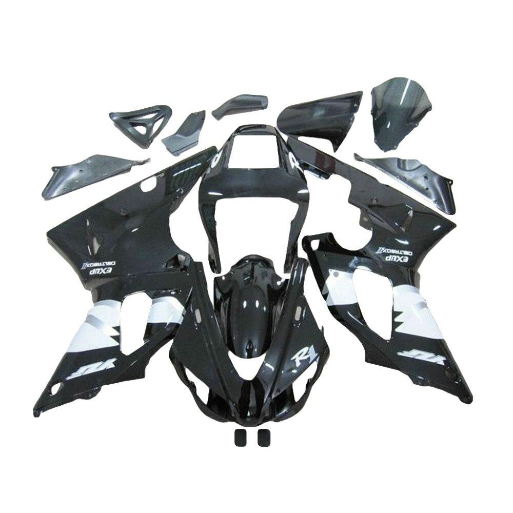 Hot sale black ABS fairing kit for YAMAHA YZF R1 fairings 1998 1999 98 99 R1