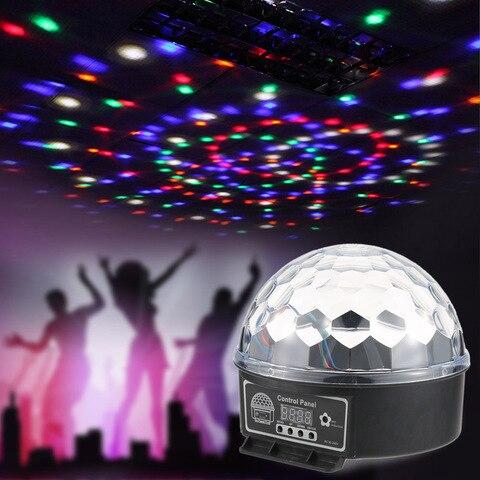 dj movendo a cabeca laser luz de discoteca digital led rgb cristal bola magica efeito