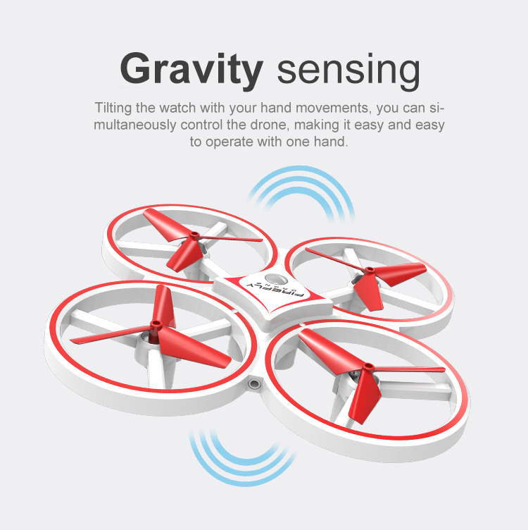 ZF04 RC Mini Quadcopter Induction Drone Smart Watch Remote Sensing Gesture Aircraft UFO Hand Control Drone  Altitude Hold  Kids 6