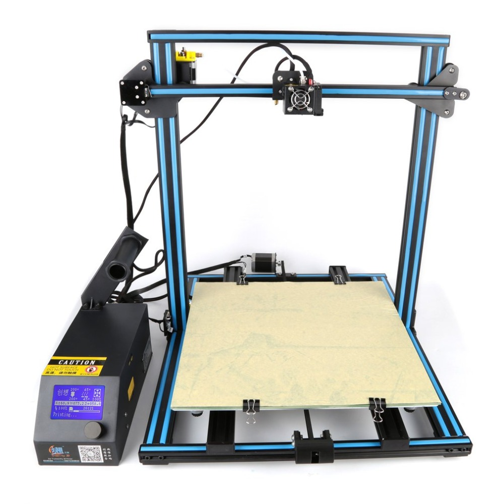 DIY Desktop 3D Printer 400 400 400mm Large Printing Size Multi type Filament With Heated Bed
