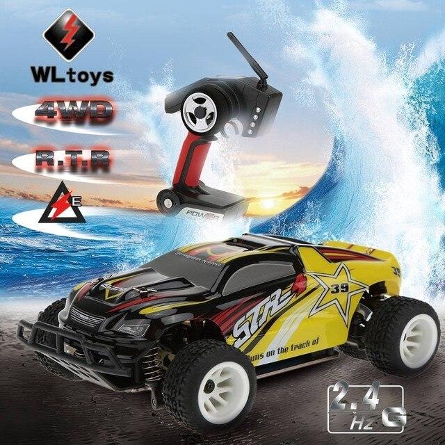 Wltoys A222 1/24 2.4 Г 4WD Щеткой RC Гоночный Автомобиль Высокой Скорости Автомобили дистанционного Управления Высокоскоростной Гоночный Автомобиль С Передатчиком против A232
