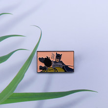 Batman lapel pin Adam West battle badge DC Comics superhero fans addition pop accessory(China)