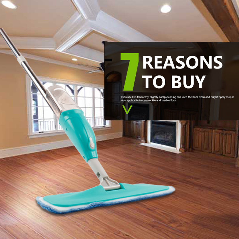 Spray Mop with Spray Gun Steam Mop Wooden Floor Ceramic Tile Automatic Flat Mops Floor cleaner