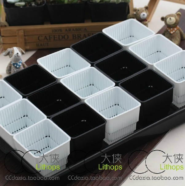 Plastic Nursery Pots 15 Square 1 Large Tray Box Fleshy Succulents Breathable Root In From Home Garden On