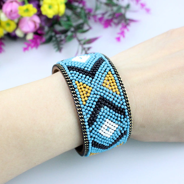 Bohemian Seed Bead Bracelet...