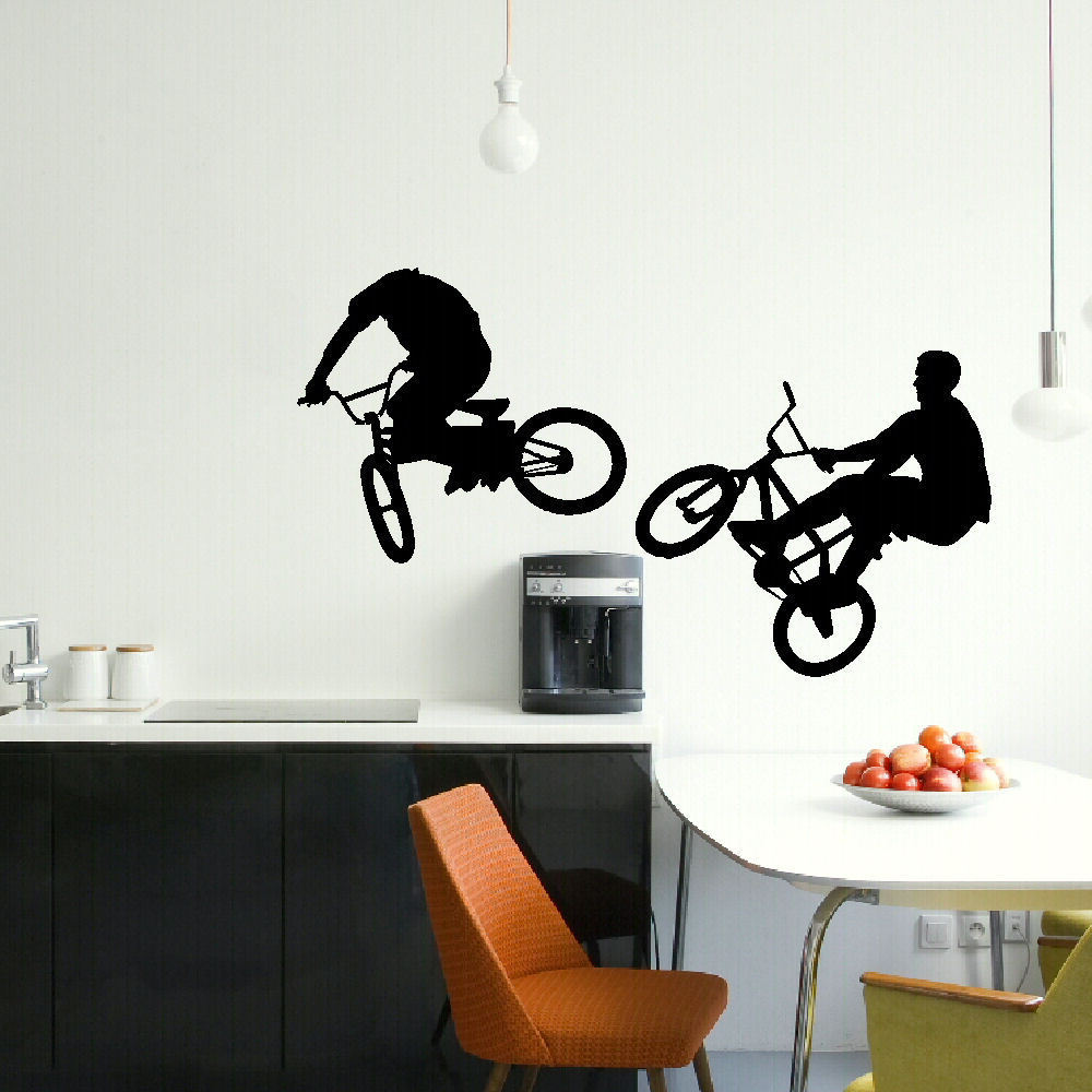 LARGE BMX BIKE CHILDRENS BEDROOM WALL MURAL GIANT GRAPHIC STICKER MATT  VINYL(China (Mainland Part 57