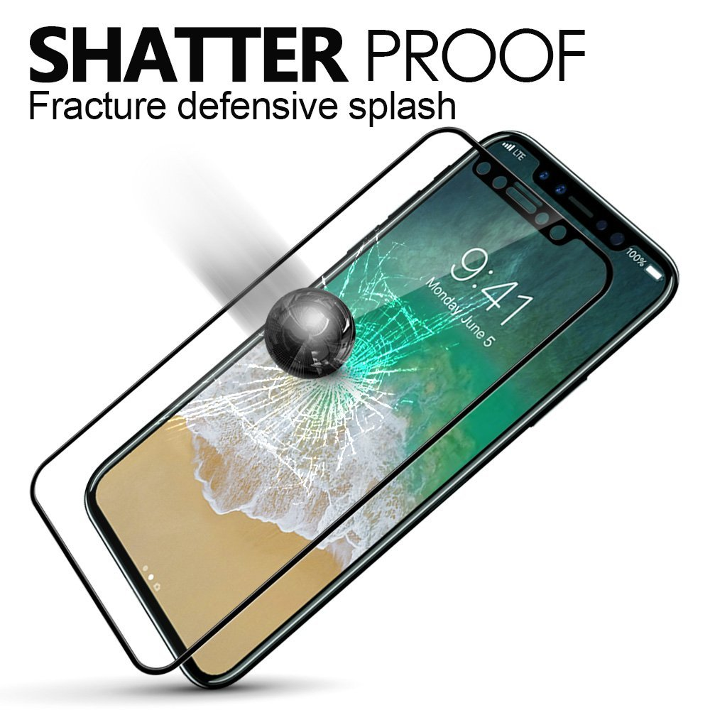 5d permukaan melengkung kaca tempered untuk apple iphone 7 8 x kaca - Aksesori dan suku cadang ponsel - Foto 3