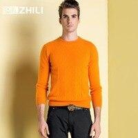 Зимние Для мужчин джемпер 100% чистого кашемира вязаный свитер с длинными рукавами и круглым вырезом теплая Пуловеры для женщин мужской нови