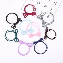 1PC women hair band ring Fashion Three Layers Of Elastic Rubber Bands The Hair Ring Tie The Hair 2M0629(China)