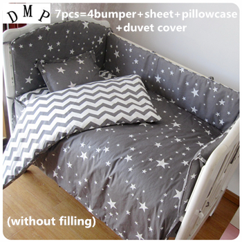 Discount! 6/7pcs baby bedding set Crib Bedding Set Quilt Cover Bumpers Baby Sheet,120*60/120*70cm