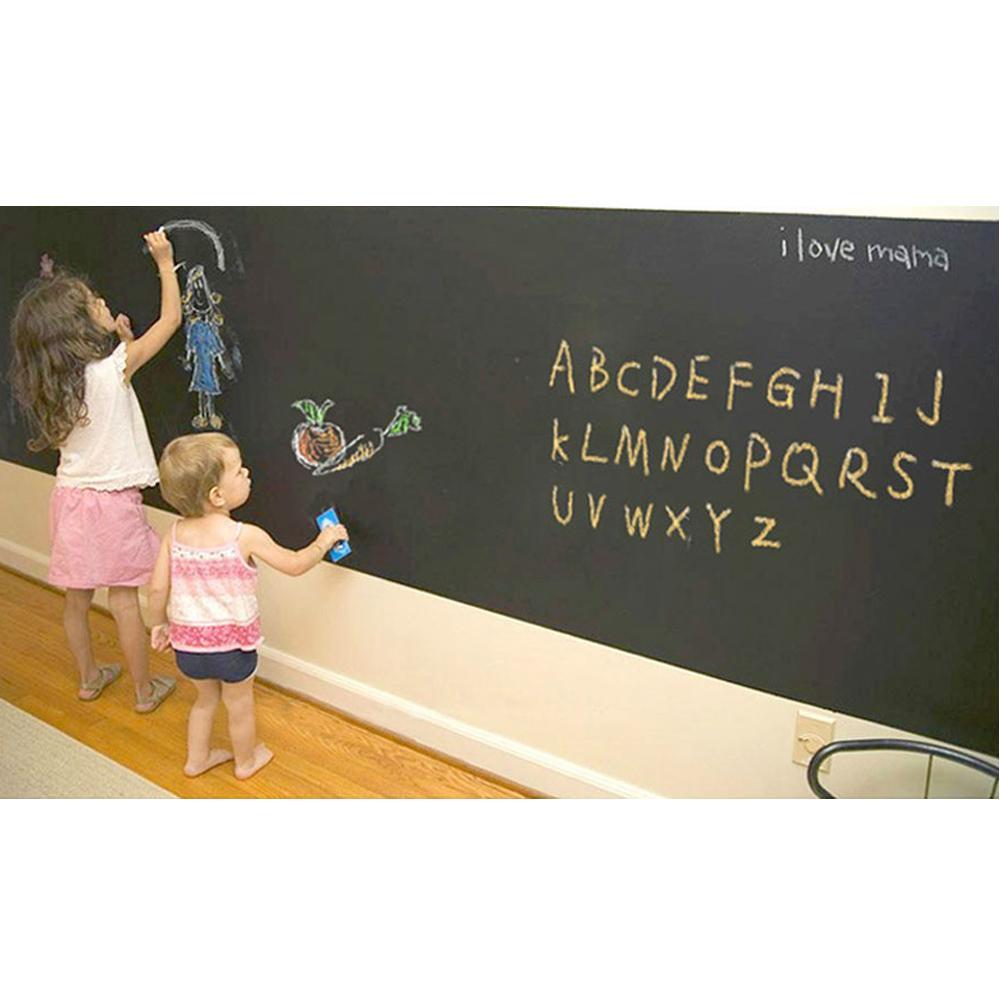 2-pieceslot-Wall-Stickers-Blackboard-Paint-learning-children-drawing-toy-Vinyl-Chalkboard-3040CM-3