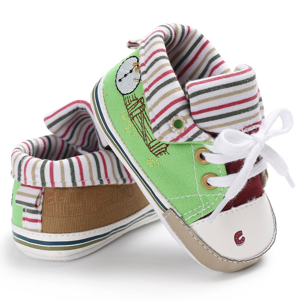 TELOTUNY Baby Girl Boys Soft Sole Infant Toddler Newborn Shoes comfortable Crib Shoes Canvas Soft S3MAR8