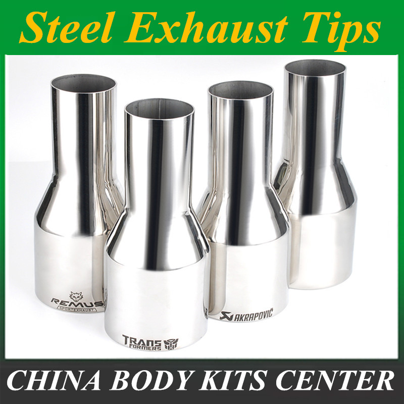 1 Piece: Car Muffler Exhaust Pipe Tip Polished Stainless Steel  Tip And Silencer 51mm