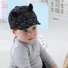 f487bf66235 2018 New Baby Hat with Cartoon Cat Ears Design Kids Baseball Hat Boy Girls  Sun Hat