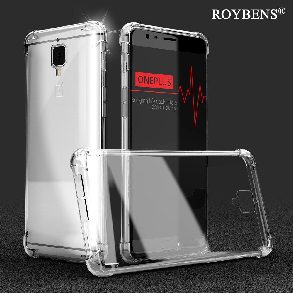 huge discount 6c2ea 2eed0 US $2.99 40% OFF|Roybens Anti Knock Oneplus 3 Cases Original Transparent  Clear Cover For Oneplus 5 Silicone TPU Case For One Plus 3T Soft Capa-in ...